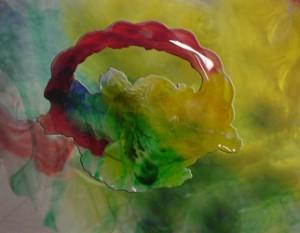 Färg till transparent harts